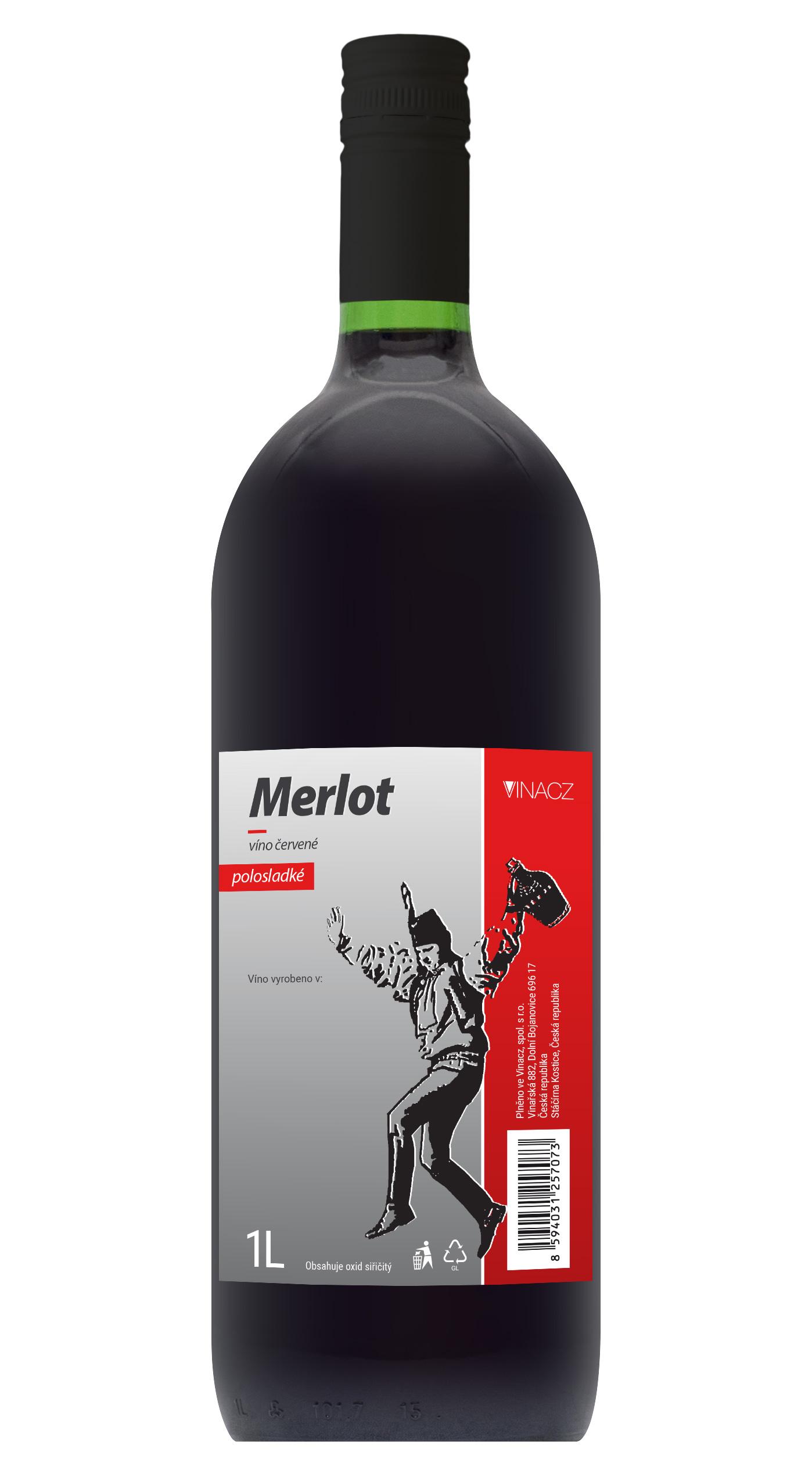 Merlot, polosladké